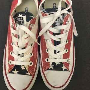 Converse American flag shoes